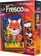 """Създай сам картина с цветен пясък - Здравей рибке - Творчески комплект от серията """"Fresco Frame"""" - играчка"""