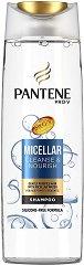 """Pantene Pro-V Micellar Cleanse & Nourish Shampoo - Шампоан за склонна към омазняване коса от серията """"Micellar"""" - шампоан"""