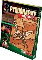 """Създай дървена гравюра - Хищен птеродактил - Творчески комплект за пирографиране от серията """"Pyrography"""" - играчка"""