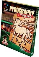 """Създай дървена гравюра - Конче на разходка - Творчески комплект за пирографиране от серията """"Pyrography"""" - творчески комплект"""