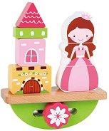 Принцеса и замък - Дървена играчка за баланс -