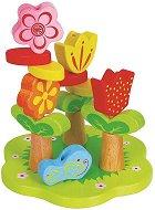 Низанка - Цветна градина - Дървена образователна играчка -