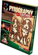"""Създай дървена гравюра - Две кученца - Творчески комплект за пирографиране от серията """"Pyrography"""" - творчески комплект"""