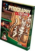 """Създай дървена гравюра - Коте - Творчески комплект за пирографиране от серията """"Pyrography"""" -"""
