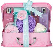 IDC Institute Cupcake Bakery - Подаръчен комплект с козметика за тяло с аромат на мъфин -