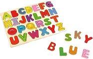 Английска азбука - Детски дървен пъзел -