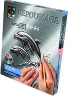 """Създай сам гравюра - Делфини - Творчески комплект от серията """"Repoussage"""" - играчка"""