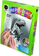 """Създай сам гравюра - Динозавър - Творчески комплект от серията """"Repoussage"""" - творчески комплект"""