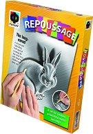 """Създай сам гравюра - Заек - Творчески комплект от серията """"Repoussage"""" - творчески комплект"""