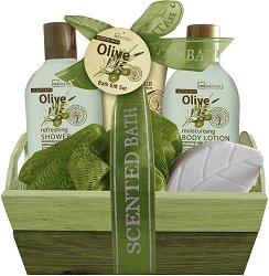 IDC Institute Scented Bath Olive - Подаръчен комплект с козметика за тяло - олио