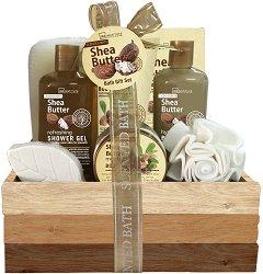 IDC Institute Scented Bath Shea Butter - Подаръчен комплект с козметика за тяло -