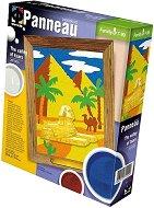 Създай и оцвети  барелефно пано с цветен пясък - Долината на царете - играчка