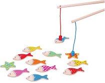 Риболов - Детска дървена магнитна игра -