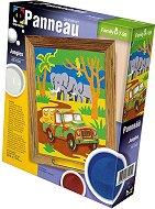 """Създай и оцвети  барелефно пано с цветен пясък - Джунгла - Творчески комплект от серията """"Panneau"""" -"""