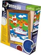 Създай и оцвети  барелефно пано с цветен пясък - Пристанище - играчка