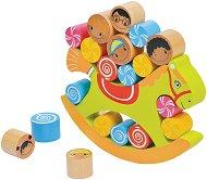 Конче - Детска игра за баланс с дървени елементи -