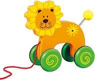 Лъвчето Лулу - Дървена играчка за дърпане - играчка