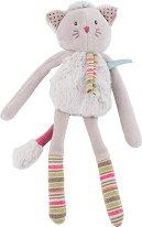 """Коте - Плюшена бебешка играчка с дрънкалка от серията """"Les Pachats"""" - играчка"""