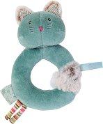 """Мека дрънкалка - Коте - Бебешка играчка от серията """"Les Pachats"""" -"""