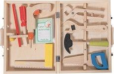 """Детски дървени инструменти в куфарче - Комплект за игра от серията """"La Grande Famille"""" -"""