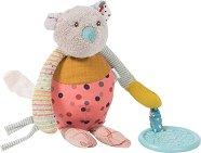 """Мишле - Плюшена играчка с дрънкалка и дъвкалка от серията """"Jolis pas Beaux"""" -"""