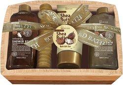 IDC Institute Scented Bath Shea Butter - Подаръчен комплект с козметика за баня -