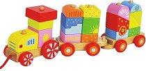 Низанка - Влакче - Дървена играчка за дърпане - кукла