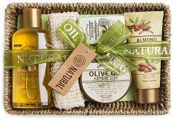 IDC Institute Natural Oil - Подаръчен комплект с козметика с натурални масла - душ гел