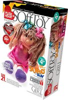 """Направи сама плюшена кукла - Момиче - Творчески комплект от серията """"Stuffed Toys"""" - творчески комплект"""