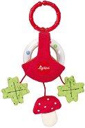Дрънкалка - Гъбка - Бебешка играчка за количка или легло -