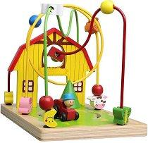 Лабиринт - Ферма - Дървена образователна играчка - играчка