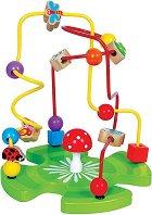Лабиринт - Градина - Дървена образователна играчка - играчка