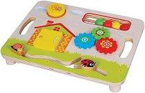 Дъска за активни занимания - Дървена образователна играчка -