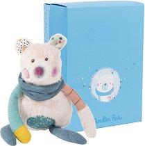 """Мече - Плюшена играчка за бебе от серията """"Jolis pas Beaux"""" -"""