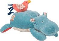 "Хипопотам с пиленце - Мека музикална играчка за бебе от серията ""Les Papoum"" -"