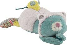 """Коте с мишле - Плюшена музикална играчка за бебе от серията """"Les Pachats"""" -"""