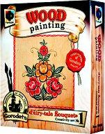 """Създай сам картина върху дърво - Приказен букет - Творчески комплект от серията """"Wood Painting"""" - творчески комплект"""