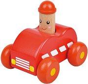 Бийп - Пожарна кола - Дървена играчка - хартиен модел