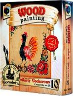 """Създай сам картина върху дърво - Първи петли - Творчески комплект от серията """"Wood Painting"""" - творчески комплект"""