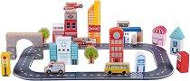 Градска улица - Дървен конструктор от 49 части -