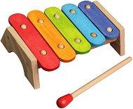 Бебшки ксилофон - Дървен музикален инструмент - играчка