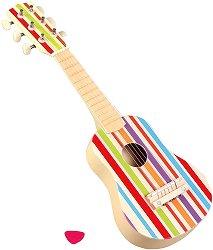 Китара - Детски музикален инструмент от дърво -
