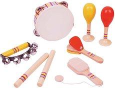 Ритъм - Комплект дървени музикални инструменти - играчка