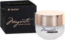 """Black Sea Stars Magnetic Night Cream - Нощен крем за лице с лифтинг ефект от серията """"Magnetic"""" -"""