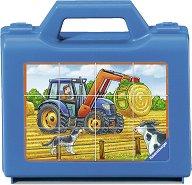 Селскостопански машини - Комплект от 12 кубчета -