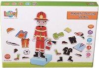 Облечи момчето - Професии - Детска играчка с магнити - образователен комплект