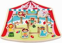 Цирк - Дъвена образователна играчка - играчка
