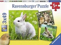 Зайчета - Комплект от 3 пъзела -