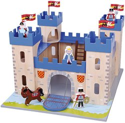 Рицарски замък - Дървен комплект за игра -