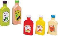 Сосове за игра - Дървен комплект от 5 части - играчка